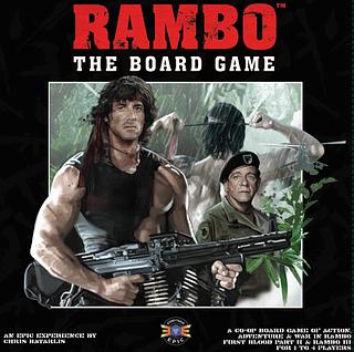 Portada juego de mesa Rambo: The Board Game