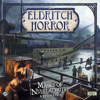 Portada juego de mesa Eldritch Horror: Las Máscaras de Nyarlathotep