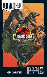 Portada juego de mesa Unmatched: Jurassic Park – InGen vs Raptors