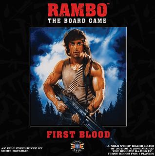 Portada juego de mesa Rambo: The Board Game – First Blood